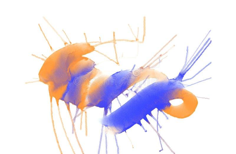 Fondo exhausto de la acuarela de la mano colorida abstracta, ejemplo de la trama libre illustration