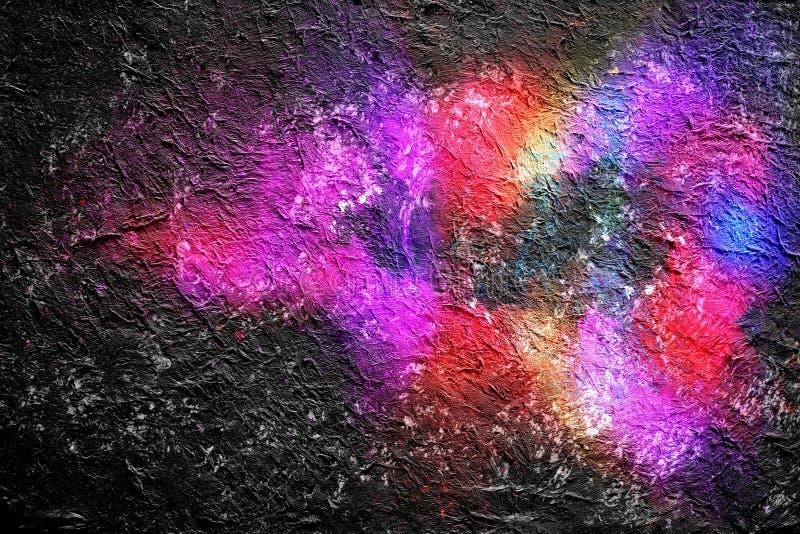 Fondo exhausto por técnica digital del cepillo, papel pintado de la acuarela de la pintura abstracta con textura a todo color del ilustración del vector
