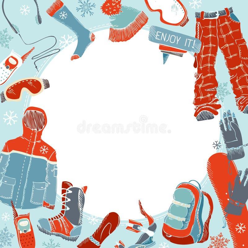 Fondo extremo del deporte del invierno libre illustration