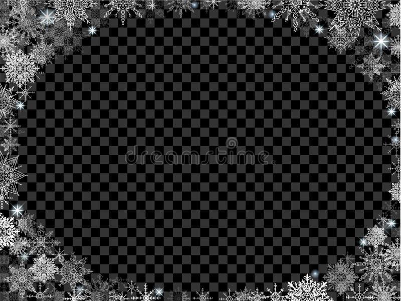 Fondo fabuloso de la Navidad con base y las porciones transparentes de stock de ilustración