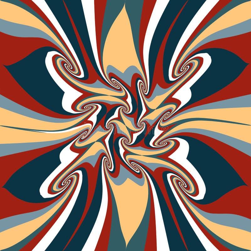 Fondo fabuloso rayado colorido de la mezcla, elegante libre illustration