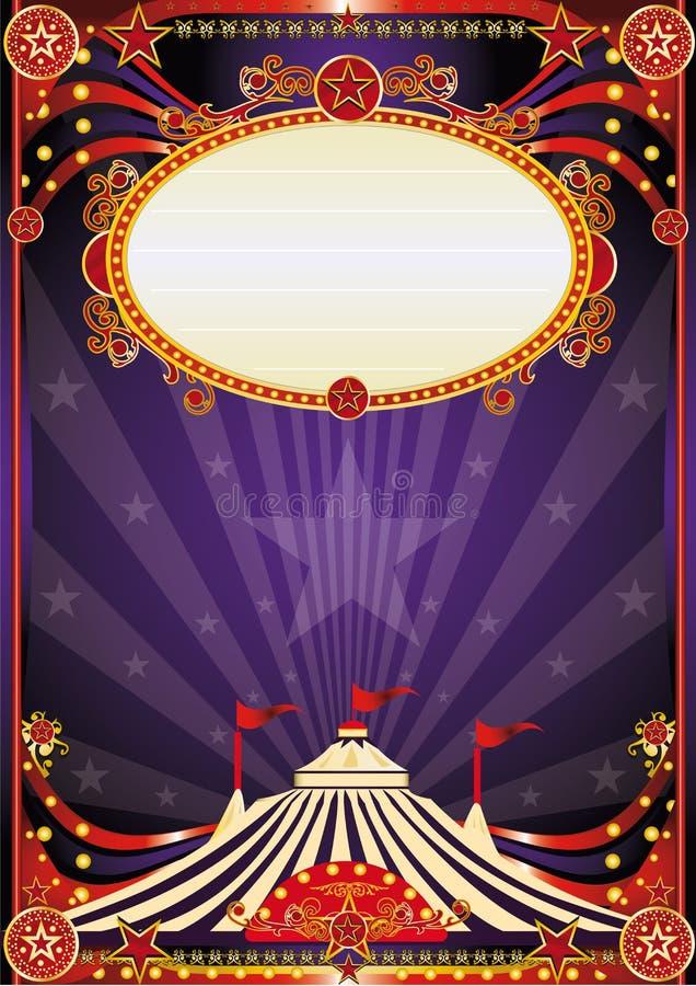 Fondo fantástico púrpura del circo ilustración del vector