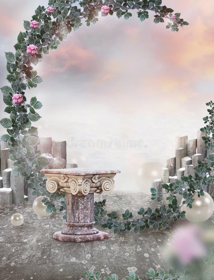 Fondo fantastico di arte surreale fantasia immagini stock libere da diritti