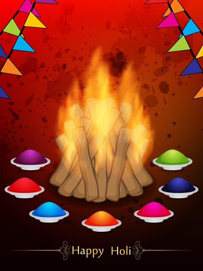 Fondo fantastico per il festival indiano Holi illustrazione di stock