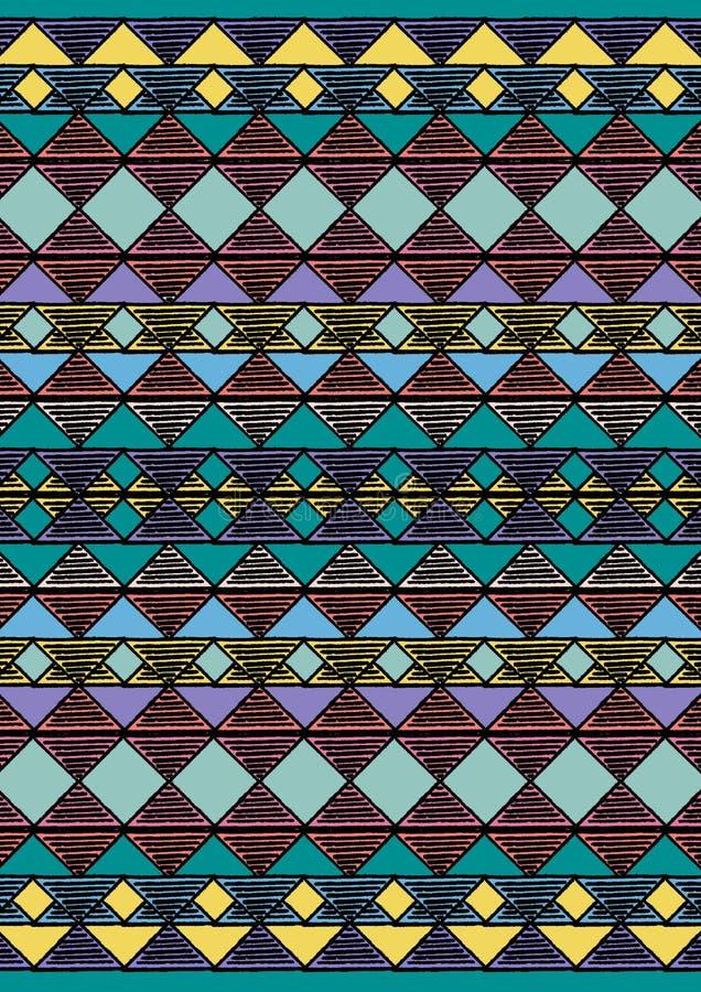 Fondo fatto a mano etnic geometrico del modello illustrazione vettoriale