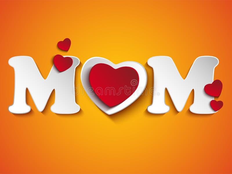 Fondo felice del cuore di giorno di madre royalty illustrazione gratis