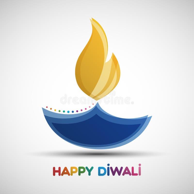 Fondo felice dell'estratto di Diwali illustrazione di stock