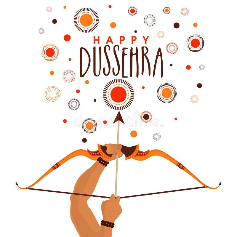 Fondo felice di celebrazione di Dussehra illustrazione di stock