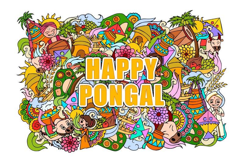 Fondo felice di celebrazione di Pongal royalty illustrazione gratis