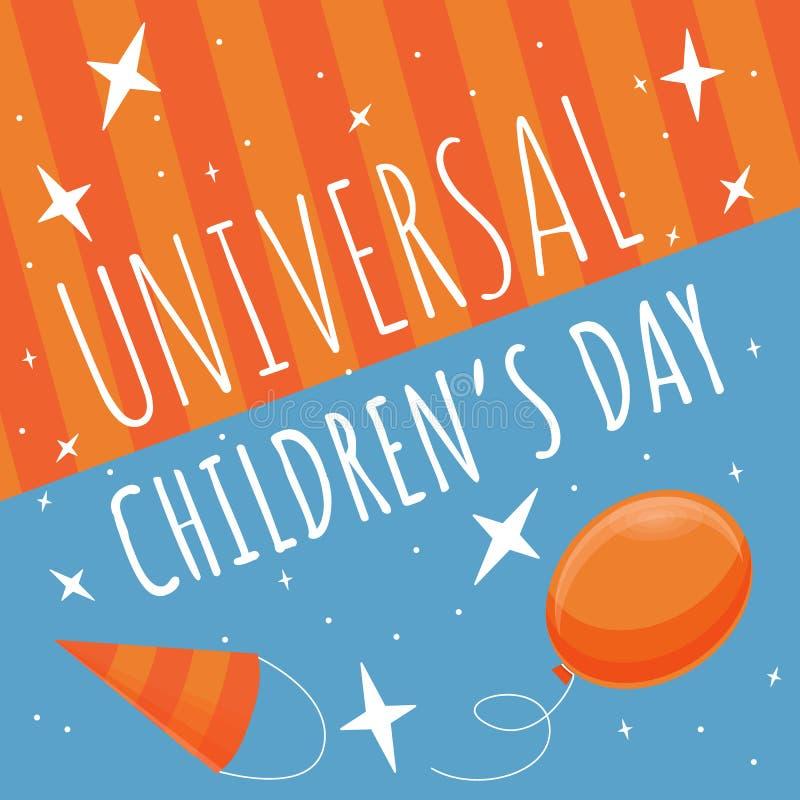 Fondo felice di concetto di giorno dei bambini, stile del fumetto illustrazione di stock