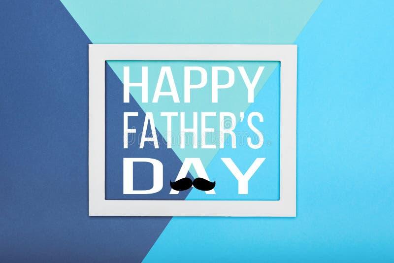 Fondo felice di giorno del ` s del padre Fondo di carta multicoloured astratto di minimalismo di struttura immagine stock libera da diritti