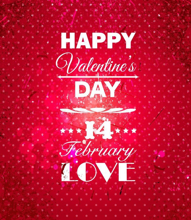 Fondo felice di giorno di biglietti di S. Valentino. royalty illustrazione gratis