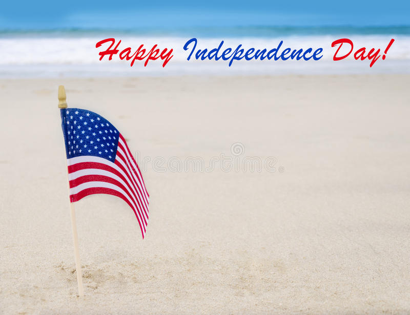 Fondo felice di U.S.A. di festa dell'indipendenza con la bandiera americana immagini stock