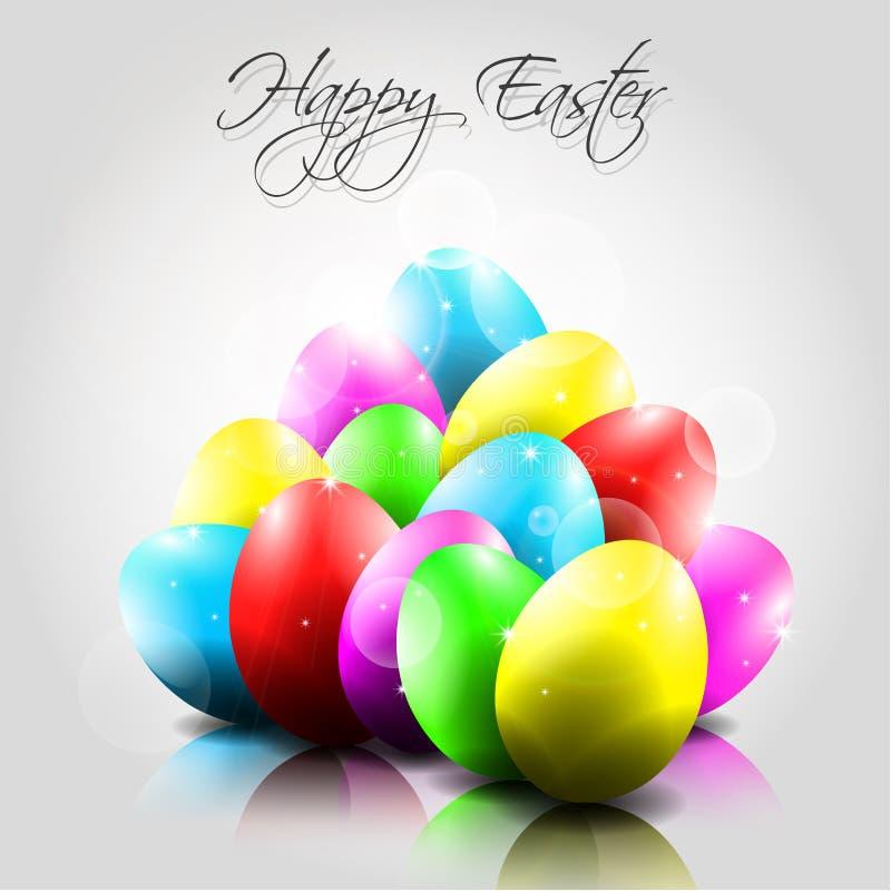 Fondo felice di vettore con le uova variopinte royalty illustrazione gratis