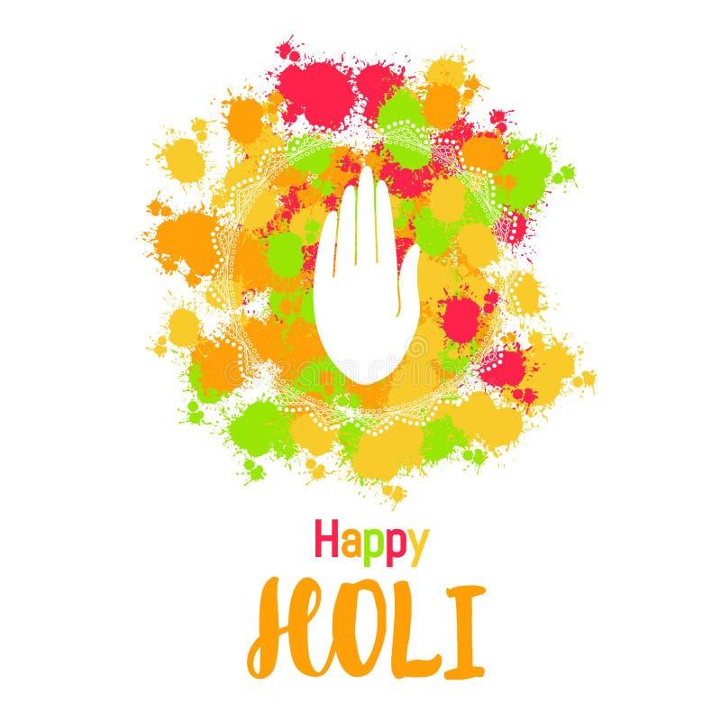 Fondo felice variopinto astratto di Holi con la mano per il festival o royalty illustrazione gratis