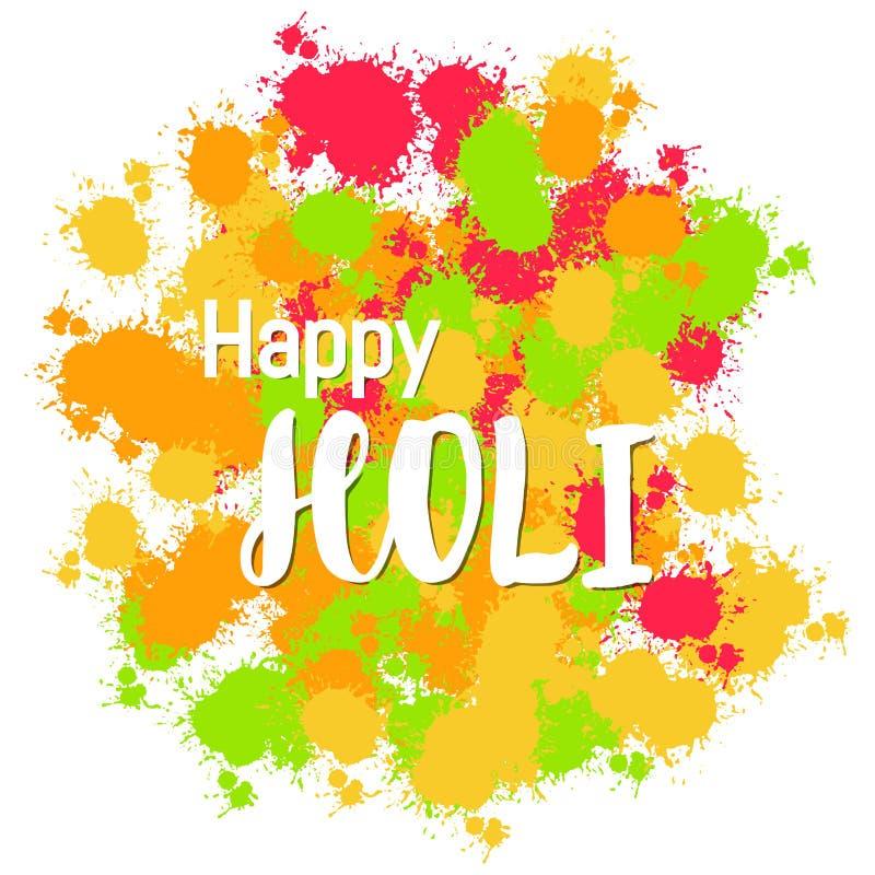 Fondo felice variopinto astratto di Holi per il festival dei colori c illustrazione di stock