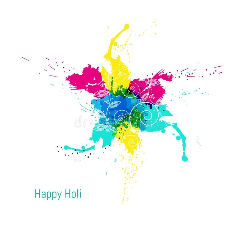Fondo felice variopinto astratto di Holi Progettazione per il festival indiano dei colori royalty illustrazione gratis