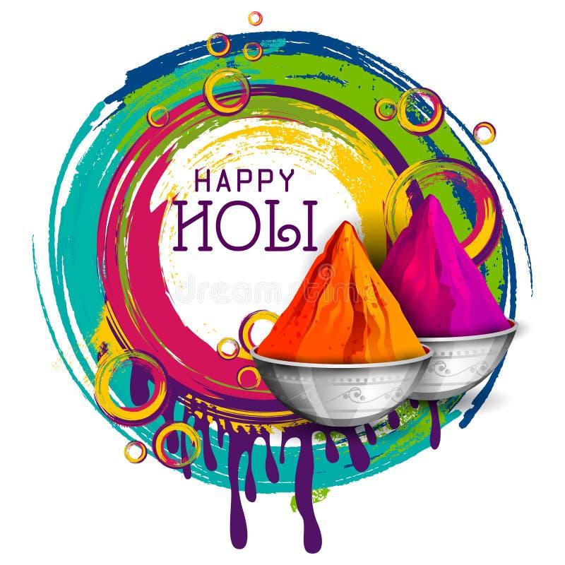 Fondo felice variopinto di Hoil per il festival dei colori in India illustrazione di stock