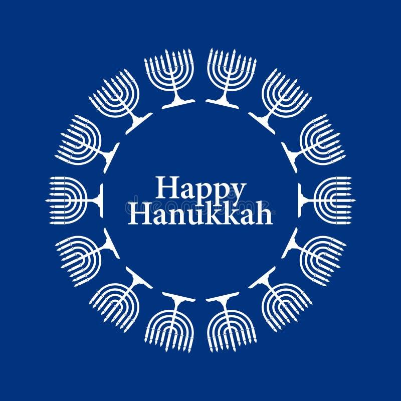 Fondo feliz de Hanukkah del vector stock de ilustración