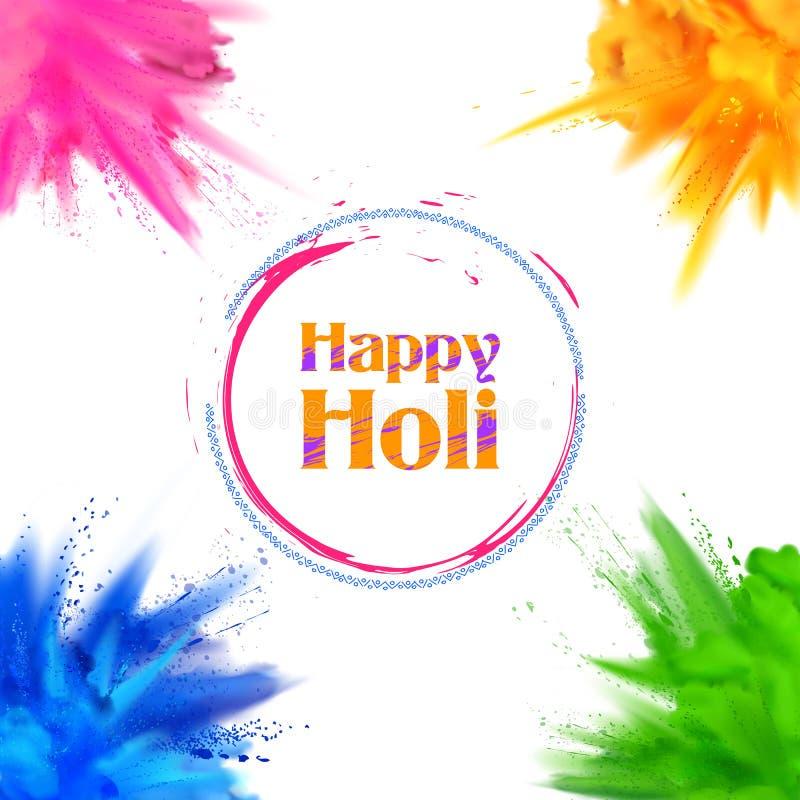 Fondo feliz de Holi para el festival del color de los saludos de la celebración de la India libre illustration