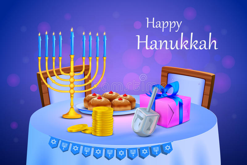 Fondo feliz de Jánuca del festival de Israel libre illustration