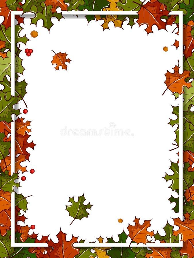 Fondo feliz de la acción de gracias con las hojas de arce ilustración del vector