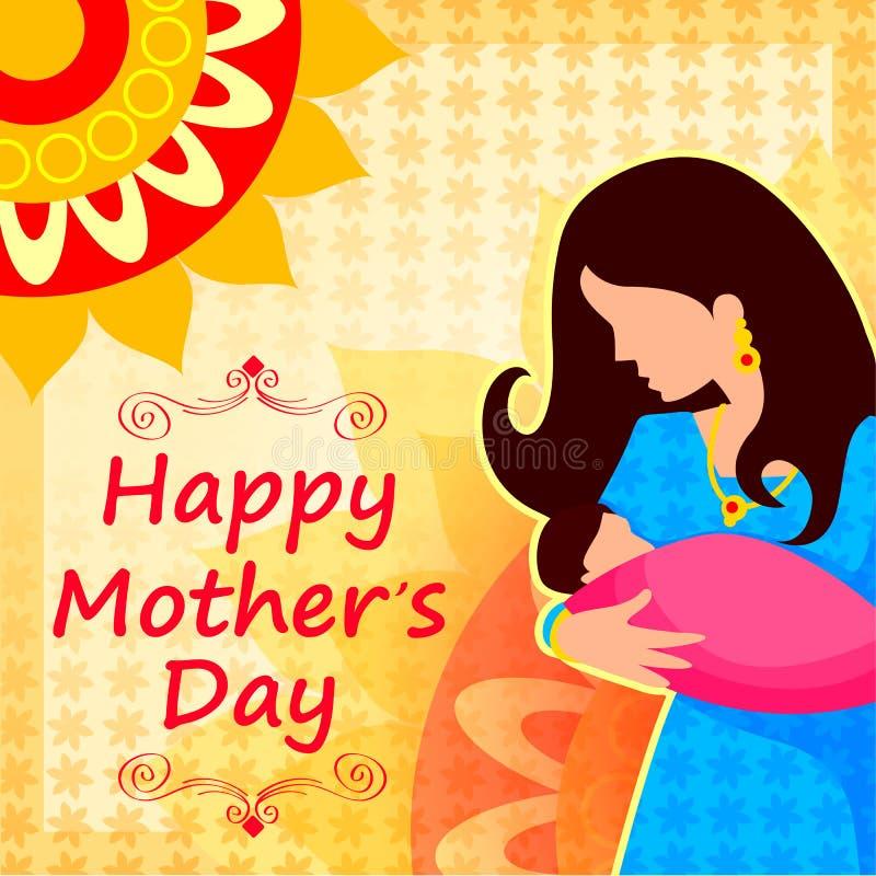Fondo feliz de la celebración del día de madre ilustración del vector