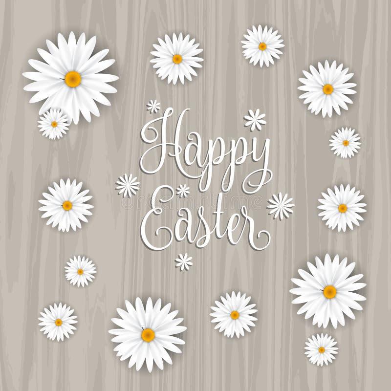 Fondo feliz de la flor de Pascua stock de ilustración