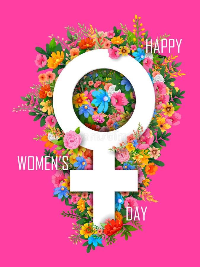 Fondo feliz de los saludos del día de las mujeres s libre illustration