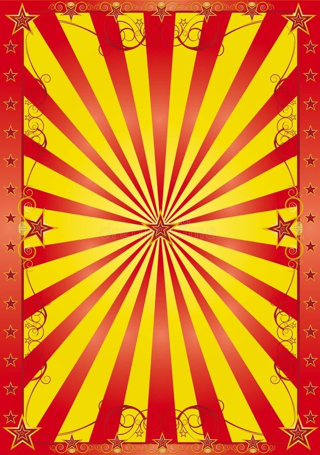 Fondo feliz del circo ilustración del vector
