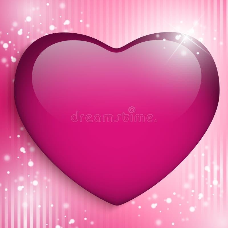 Fondo feliz del corazón del día de la madre ilustración del vector