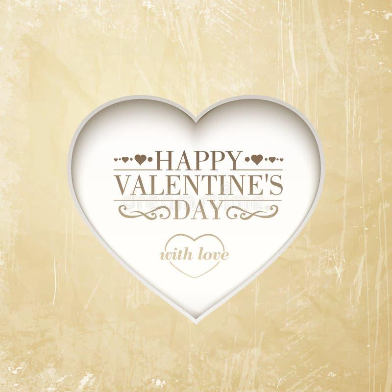 Fondo feliz del día de tarjeta del día de San Valentín con el corazón. libre illustration