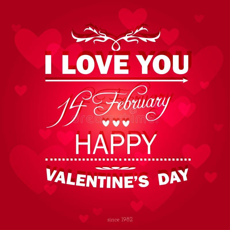 Fondo feliz del día de tarjetas del día de San Valentín. libre illustration