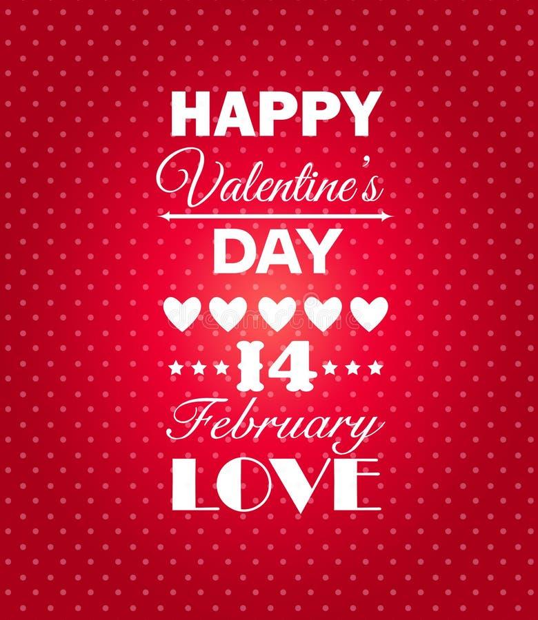 Fondo feliz del día de tarjetas del día de San Valentín. ilustración del vector