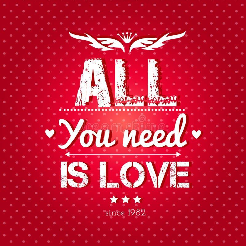 Fondo feliz del día de tarjetas del día de San Valentín. stock de ilustración