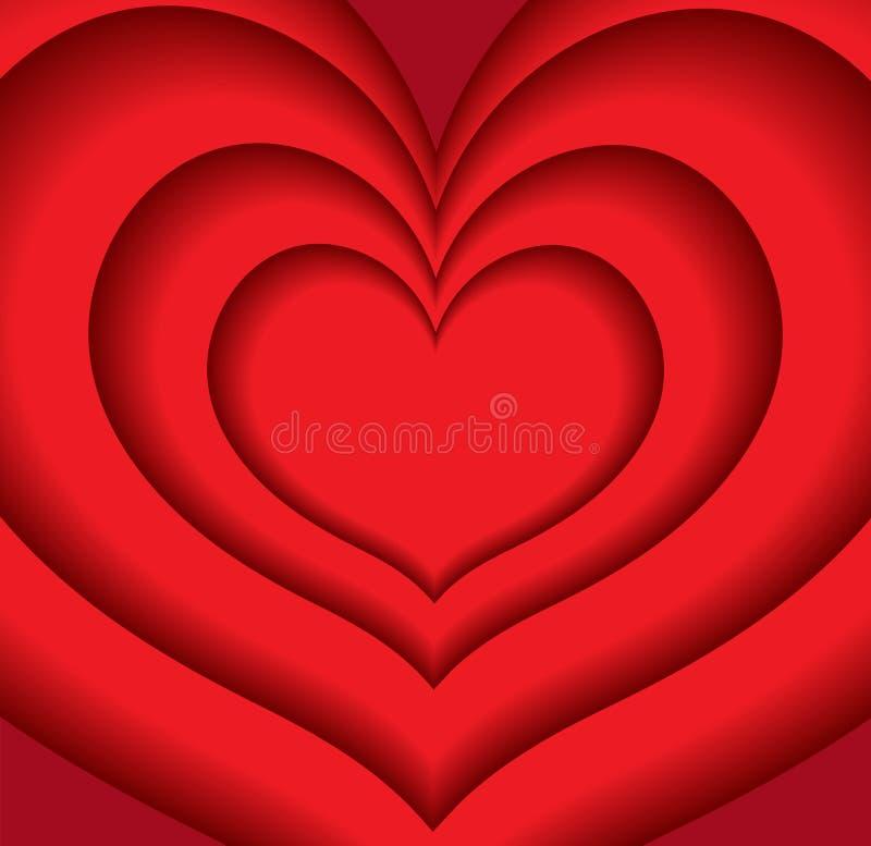 Fondo feliz del día del ` s de la tarjeta del día de San Valentín, plantilla para su diseño Ilustración del vector ilustración del vector