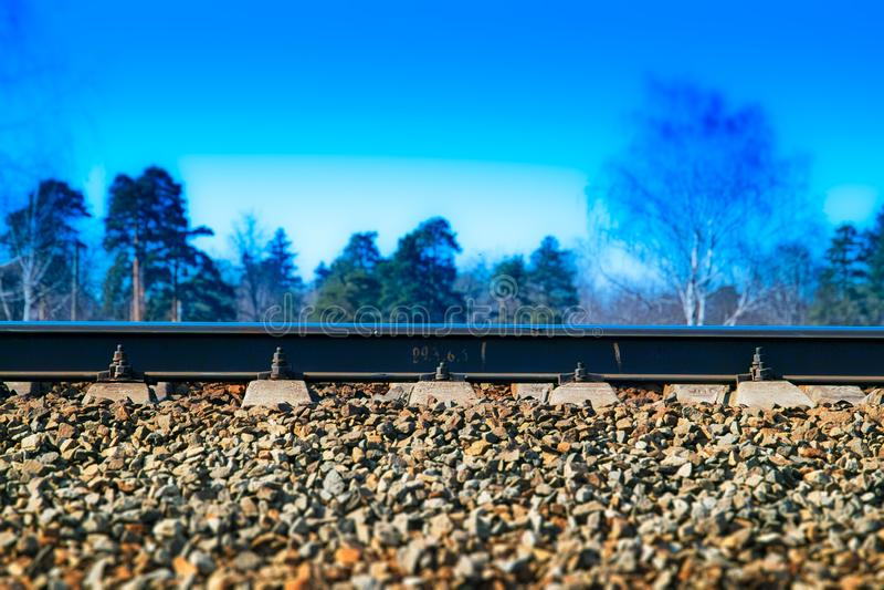 Fondo ferroviario dramático de la pista del transporte foto de archivo libre de regalías