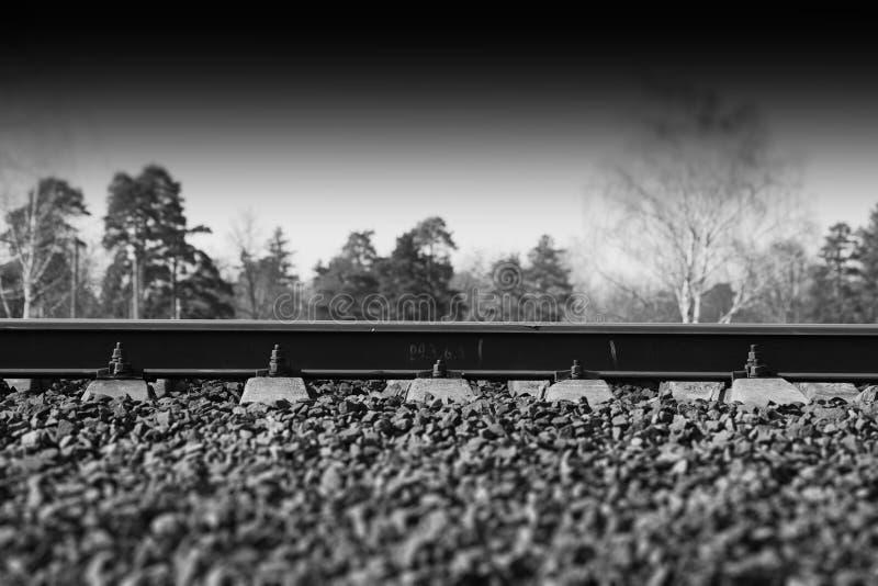 Fondo ferroviario dramático de la pista del transporte fotos de archivo