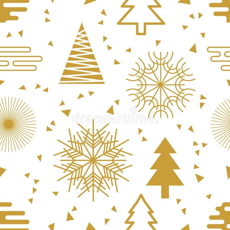 Fondo festivo de la Navidad stock de ilustración