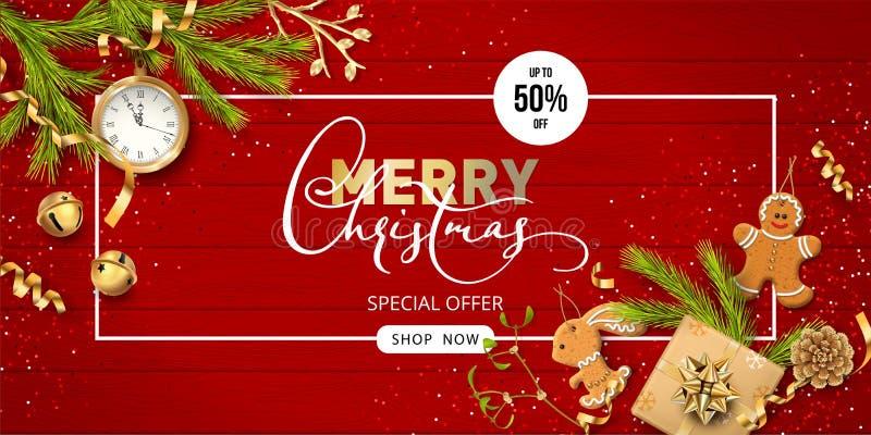 Fondo festivo de la Navidad ilustración del vector