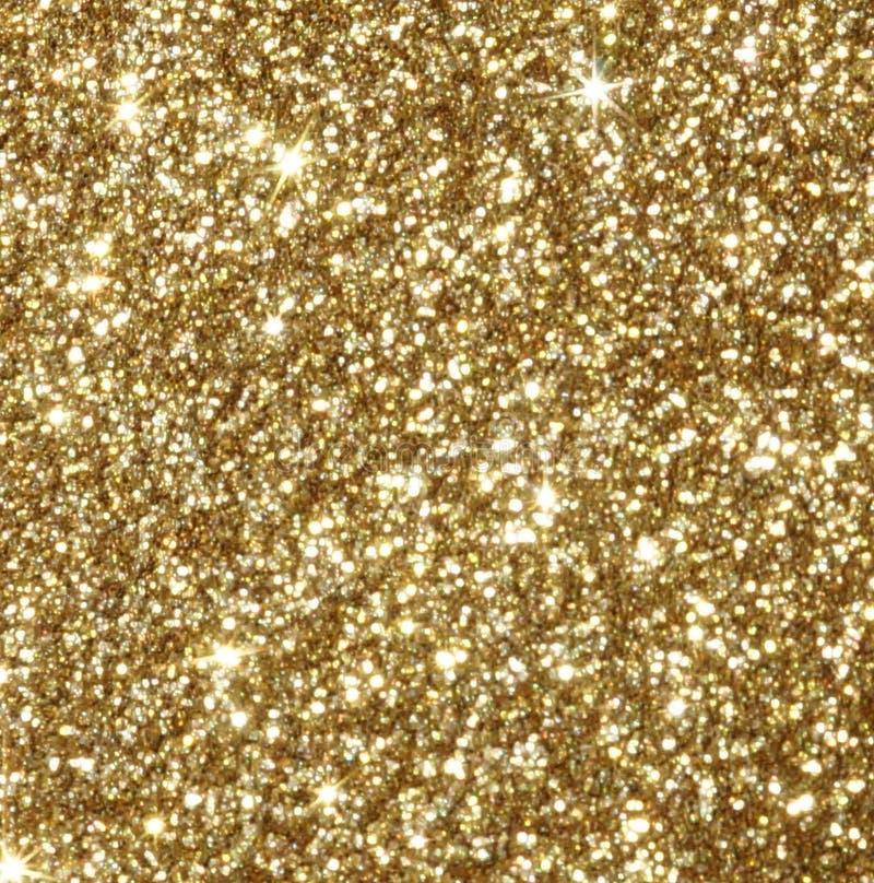 Fondo festivo de la Navidad Bokeh defocused del brillo del oro brillante abstracto imagen de archivo libre de regalías