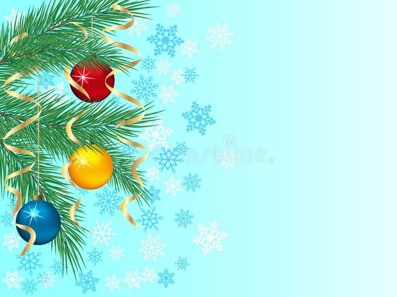 Fondo festivo del invierno stock de ilustración