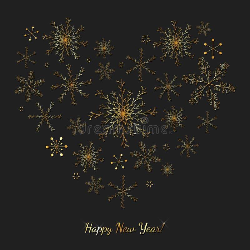 Fondo festivo del vector de la Feliz Año Nuevo stock de ilustración
