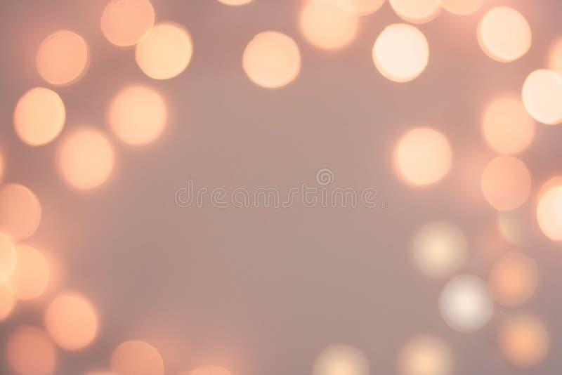 Fondo festivo scintillante dorato vago del bokeh fotografia stock