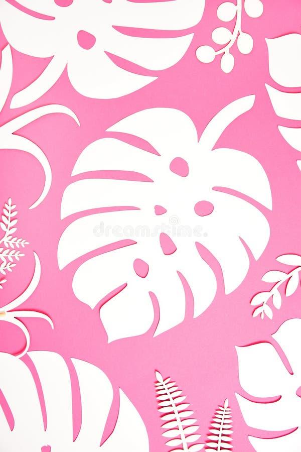 Fondo festivo Tema tropical Verano hawaii Partido, cumpleaños Visión desde arriba ilustración del vector