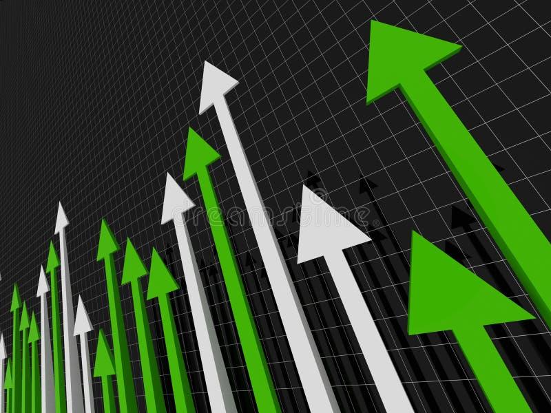 Fondo financiero del stat ilustración del vector