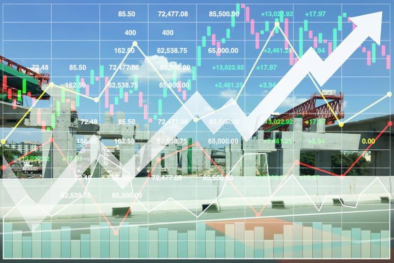 Fondo finanziario di presentazione di economia di costruzione pesante immagine stock libera da diritti