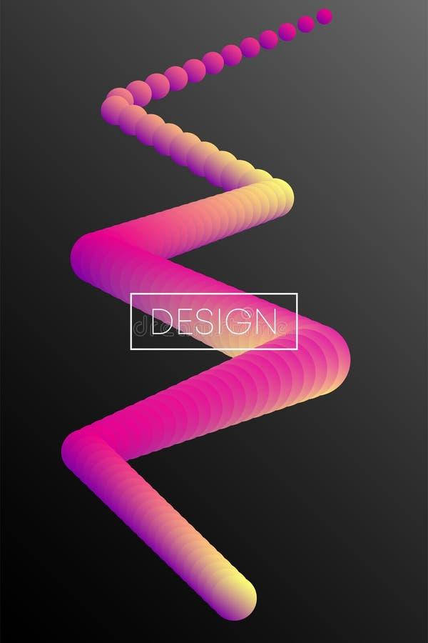 Fondo flúido del color Forma líquida en negro Vector Eps10 stock de ilustración