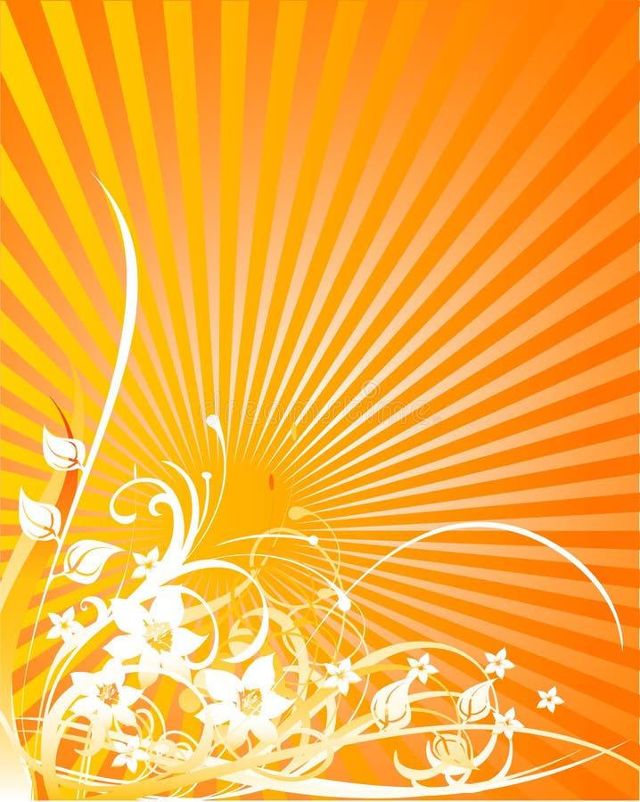 Fondo floral abstracto 07 ilustración del vector