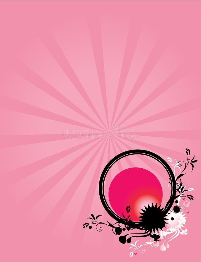 Fondo floral abstracto 1 del color de rosa del círculo ilustración del vector